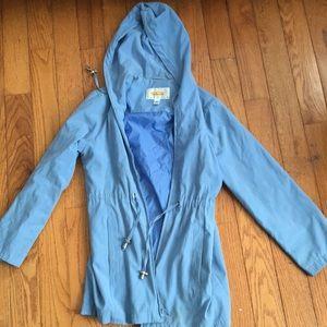 TALBOTS Petites Blue Rain Coat
